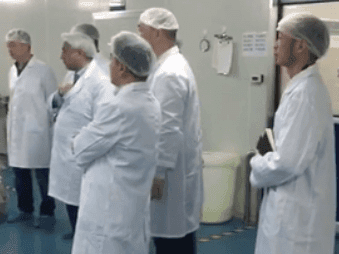 Customers visit the factory to discuss product production
