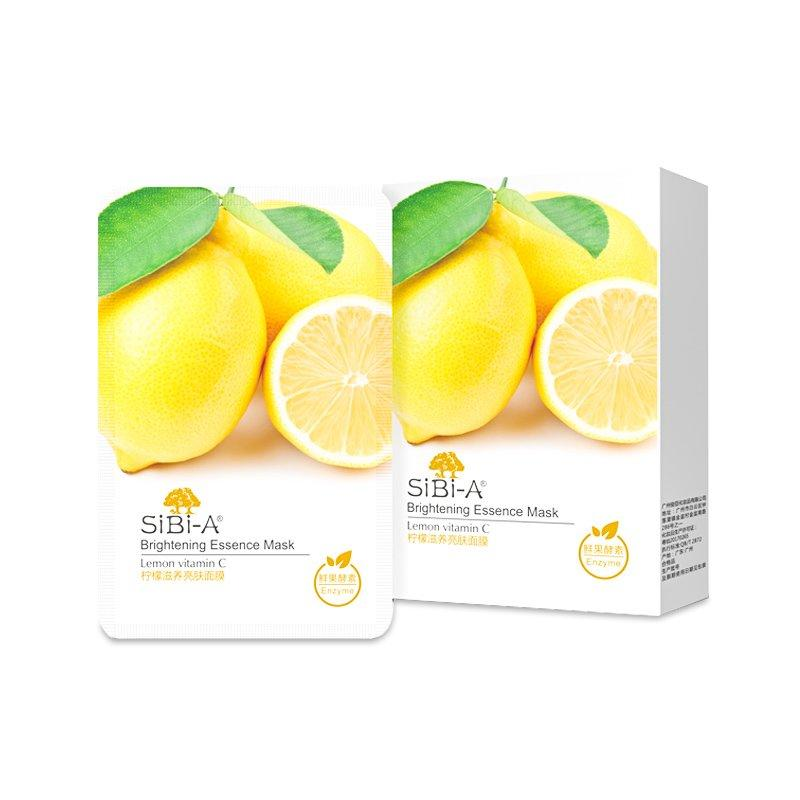 SIBI-A Lemon vitamin c brightening essence mask 25ml 5pcs