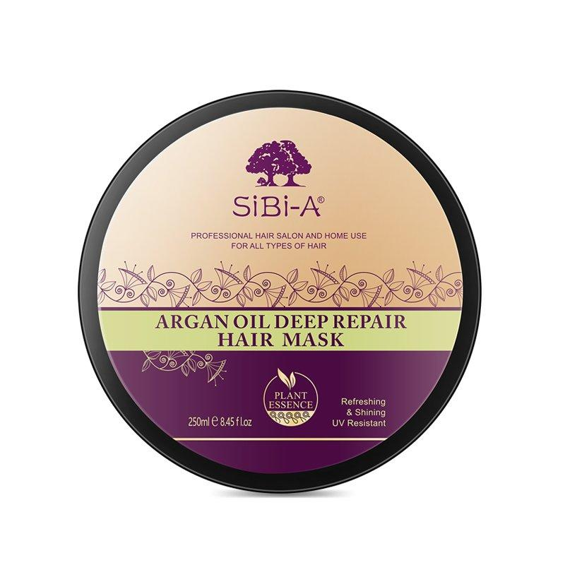 SIBI-A Organic moroccan argan oil best hair mask for damaged hair 250ml